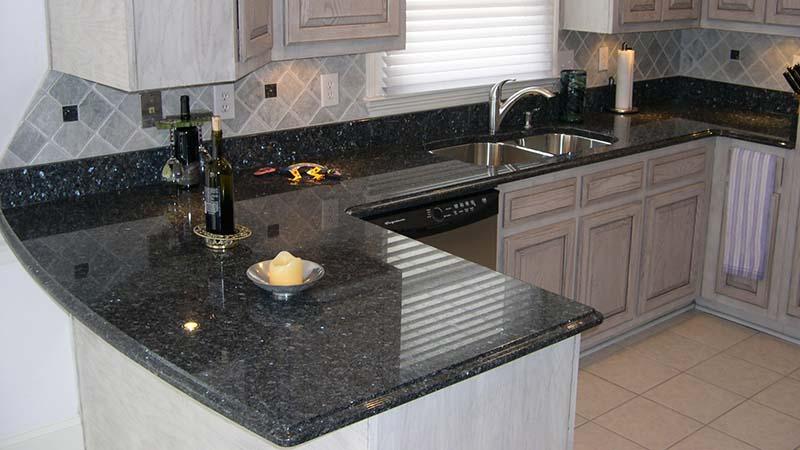 Blue Pearl Stone Kitchen Countertops