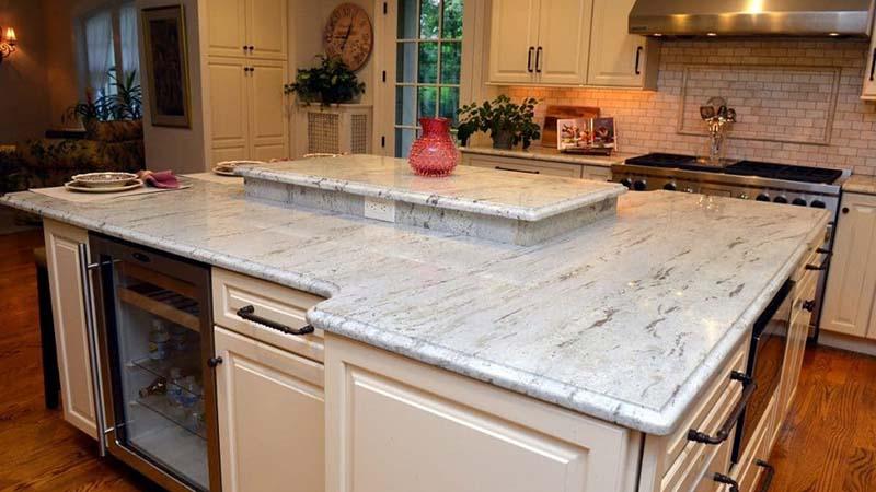 River White Kitchen Countertops