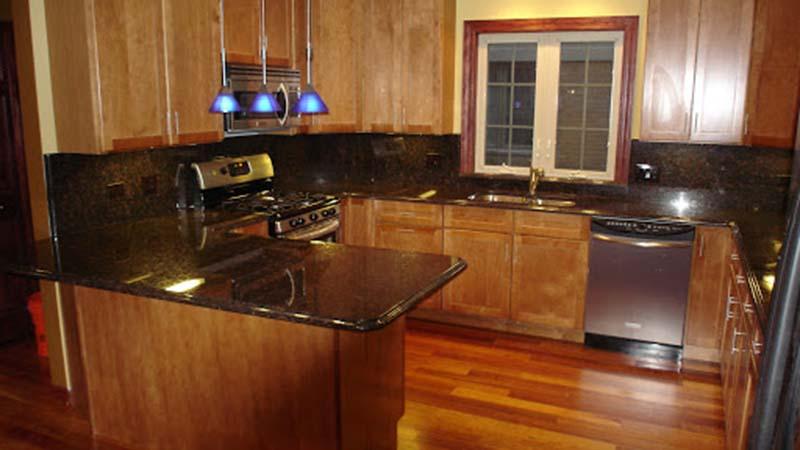 Tan Brown Kitchen Bar Countertop