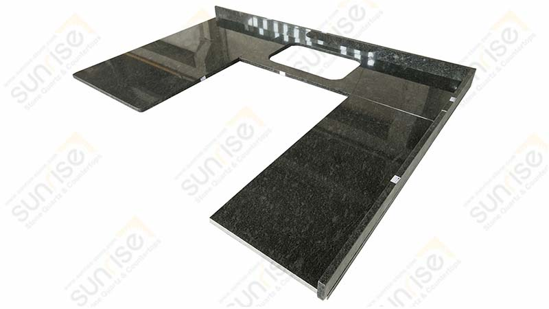 Steel Gray U Shape Countertop
