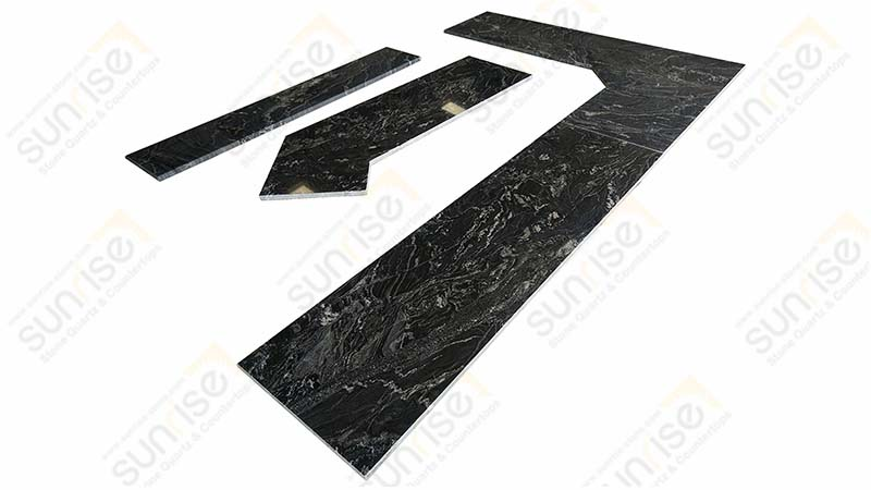 Black Forest Prefab Stone Countertops