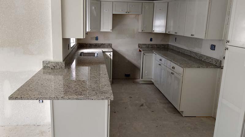 Ornamental White Granite Kitchen
