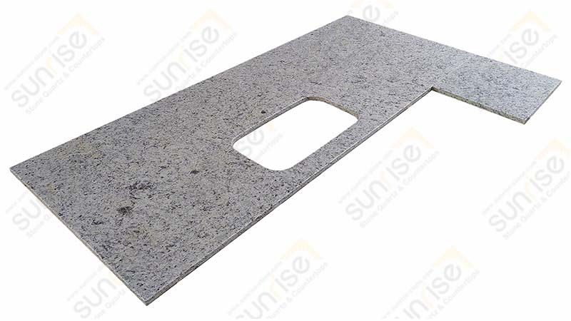 White Ornamental Granite Countertops