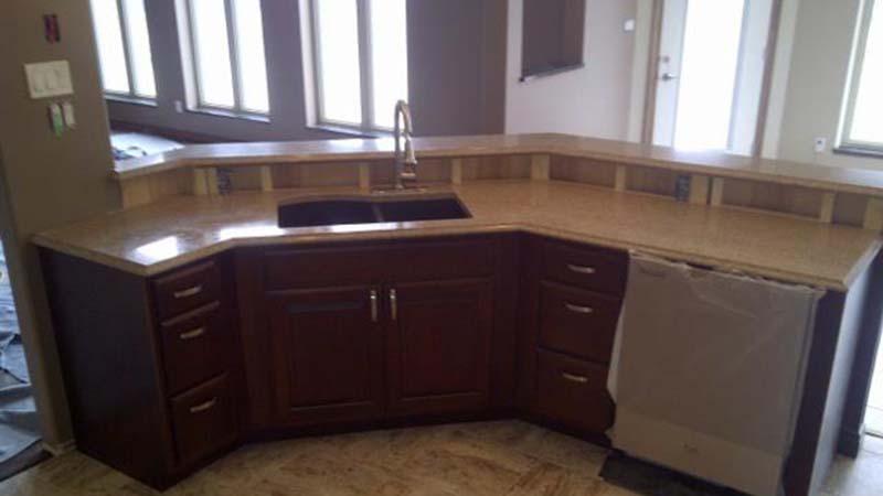 G682 Sunset Gold Kitchen Countertop