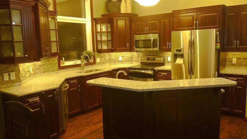 Tiger Skin White Kitchen Countertops