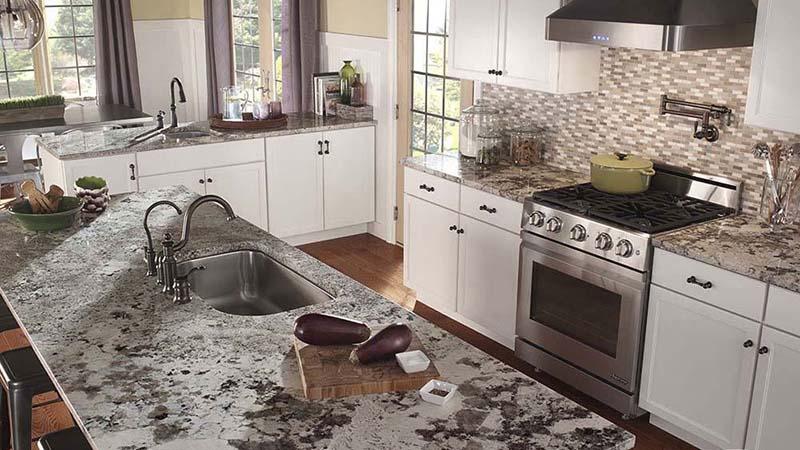 Alaska White Kitchen Countertop