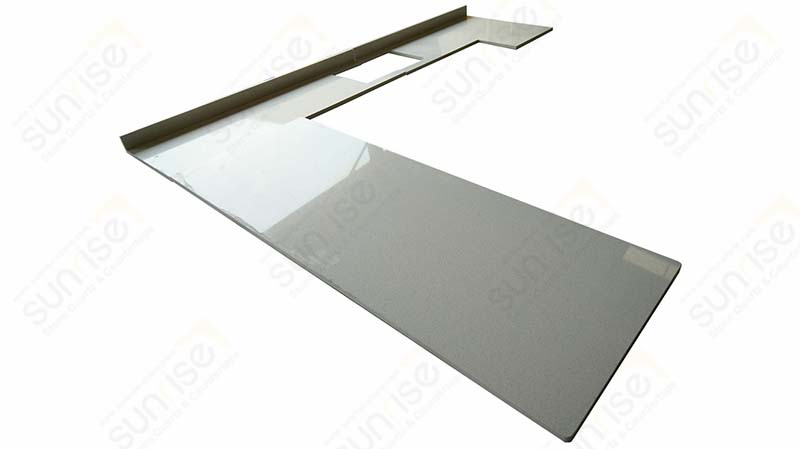 Sparkle White Quartz Table Tops