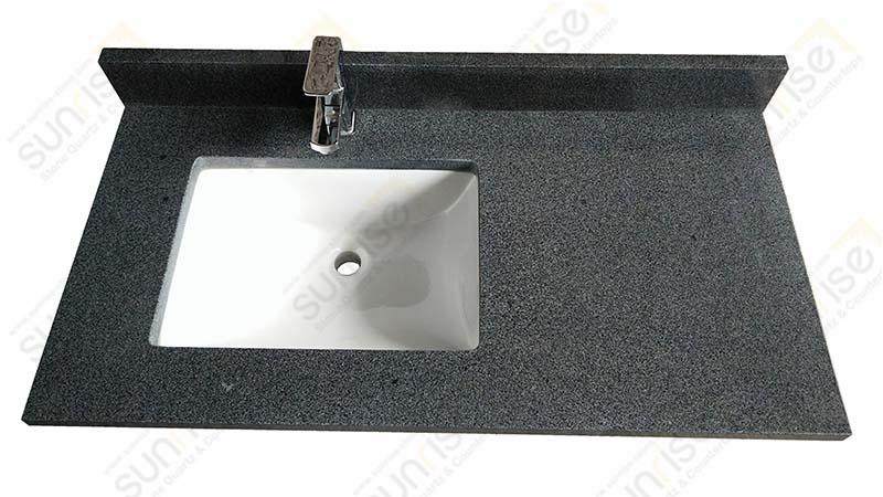 Impala Black Single Sink Vanity Top