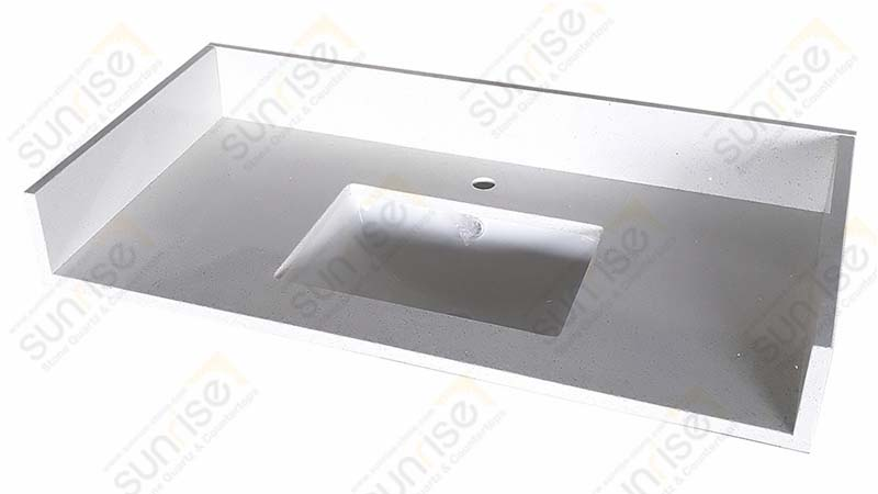 Sparkle White Quartz Vanity Top