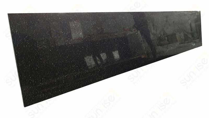 Shining Black Prefab Quartz Counters