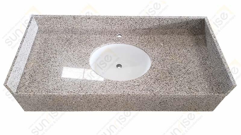 Rustic Yellow Single Sink Vanity Top