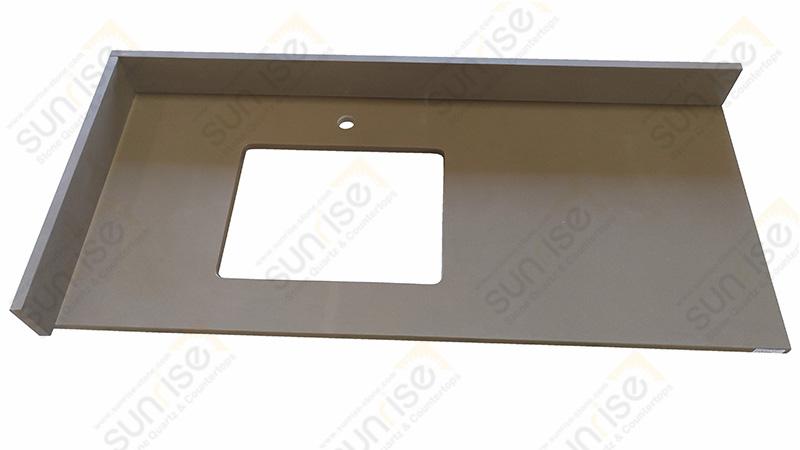Brown Taupe Quartz Vanity Counter