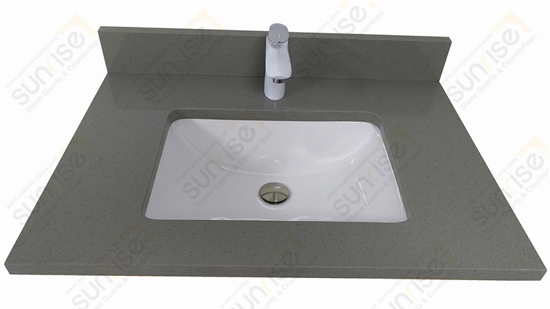 Guris grey Quartz Vanity Top