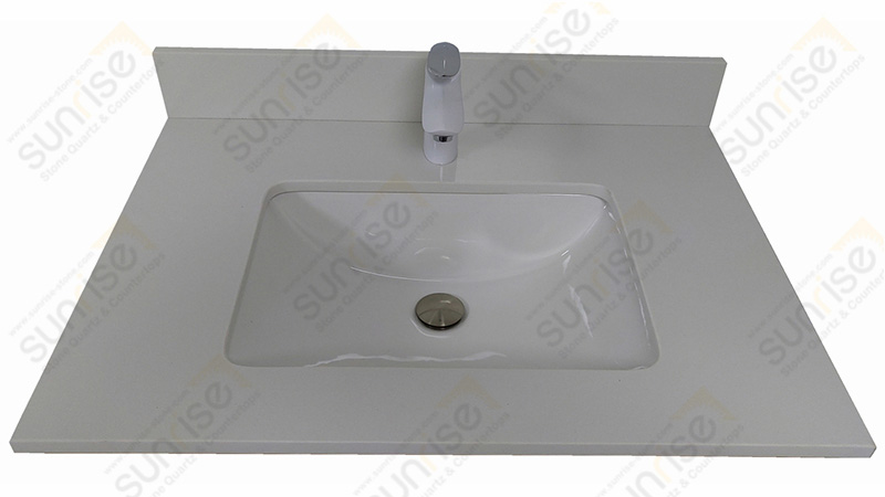 Pure White Quartz Vanity Top