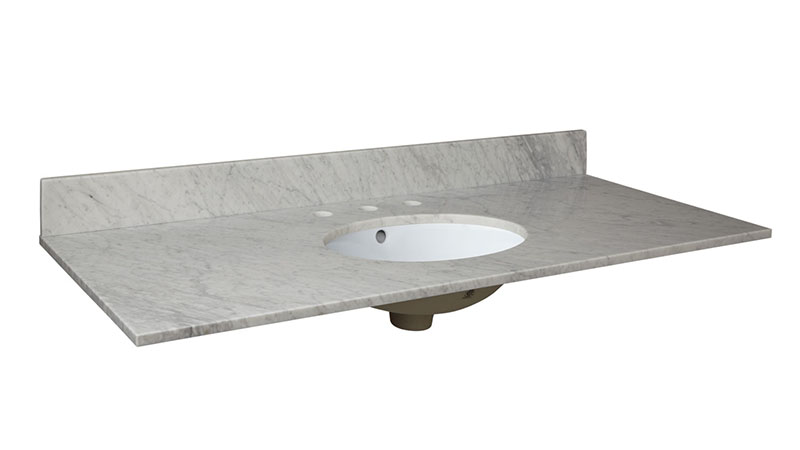 Carrara White Marble Vanity