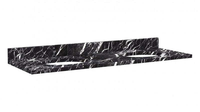 Black Marquina Marble Vanity