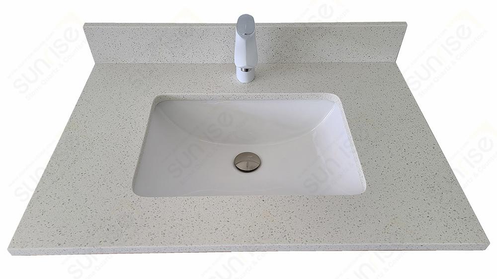Nougat Classic Quartz Vanity Top