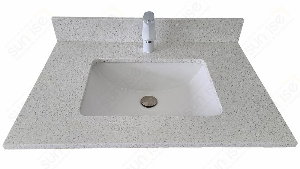 Nougat Quartz Vanity Top