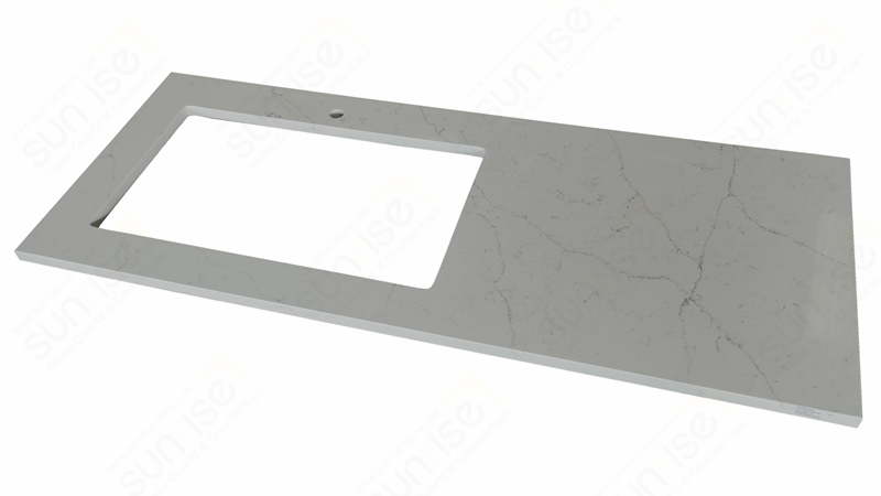 Avenue White Quartz Countertop With Sink